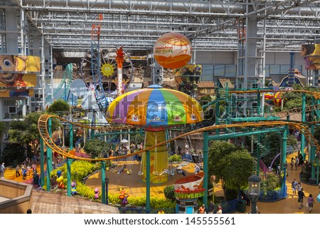 BLOOMINGTON MN JULY 06 Mall of America on July 06 2013 in Minnesota Only Disney World in Orlando Florida has more visitors per year than the Mall of America