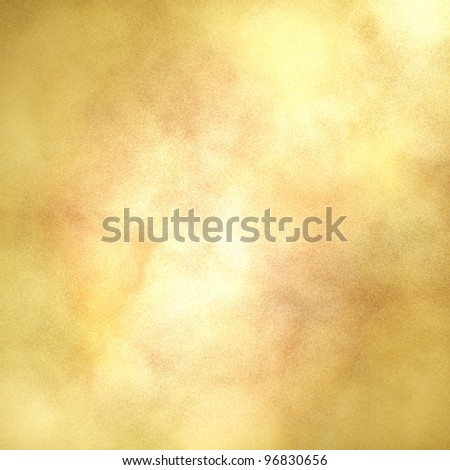 blotchy gold background with center highlight for copyspace and soft faded vintage grunge texture design layout