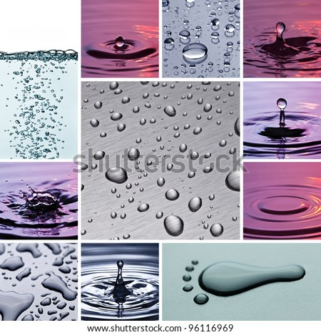 blow drip water collage