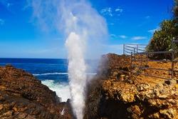 Blow hole - Natural fountain in Hummanaya, Sri Lanka
