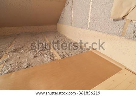 Blow in cellulose fiber wool insulation stock photo for Blown in mineral wool insulation