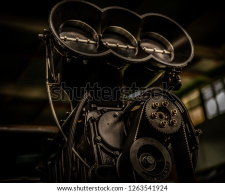 Blower on a belt driven supercharged v8 engine