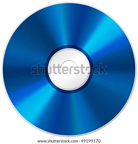 Blu-ray disc isolated on white background
