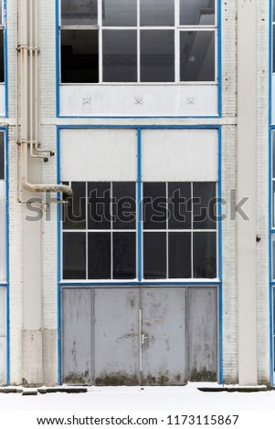 Blue Abandoned Industrial Architecture #1173115867