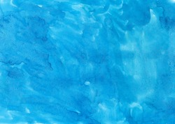 Blue abstract aquarel watercolor background abstract.