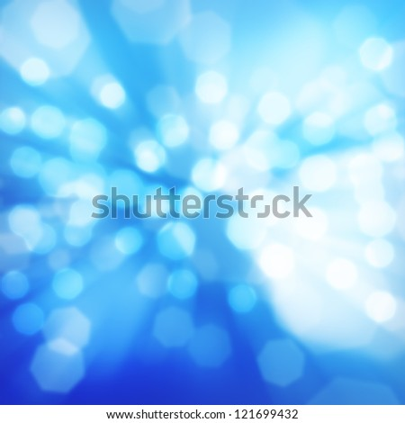 Blue abstract background of glowing winter lights