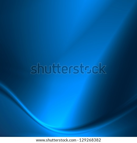 blue abstract background smooth metal plate as square banner template