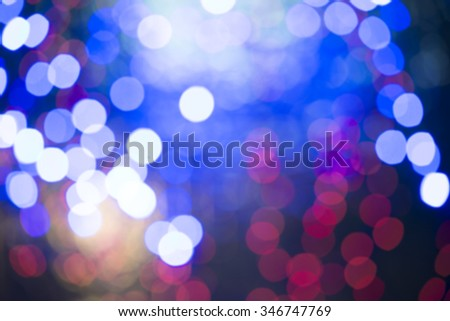 blue abstract bubble of christmas lights can be used for background