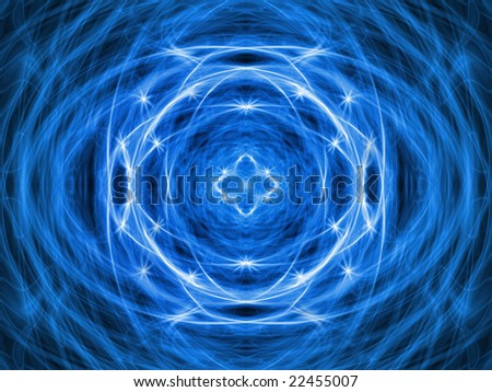 Blue abstract energy pattern