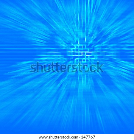 Blue abstract futuristic effect