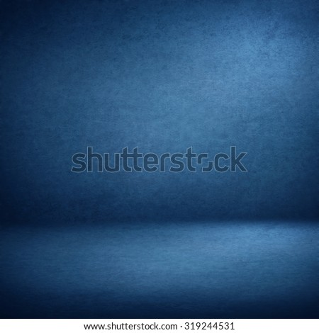 blue abstract interior background suede paper texture, empty room photo studio wall paper and floor