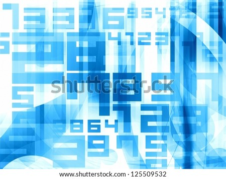 blue abstract light numbers background