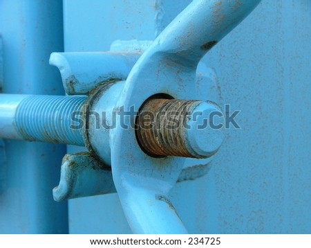 blue abstract metal detail