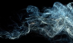 blue abstract smoke pattern on a black background