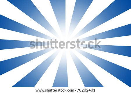 blue abstract sun cartoon with white spot