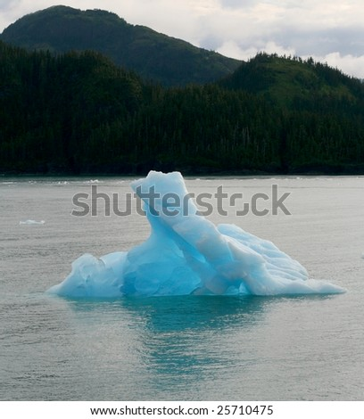 Blue Alaskan Ice Berg - stock photo