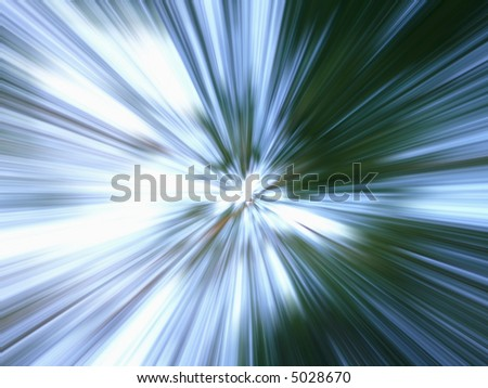 blue & green background, zooming effect - stock photo