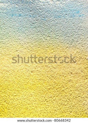 Blue & Yellow Watercolor with Sand textures 1 - stock photo