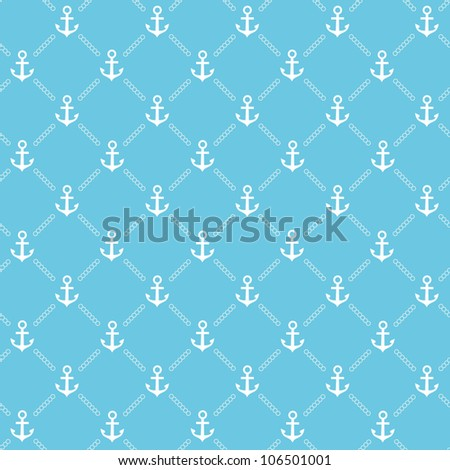 Blue anchor pattern