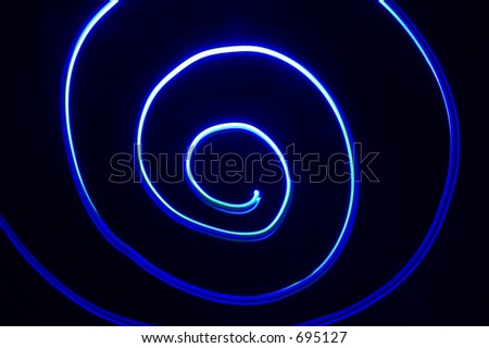 Blue and black psychedelic spiral background
