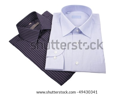 blue and black  shirts isolated on white