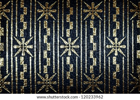Blue and golden bright vintage wallpaper with stars pattern