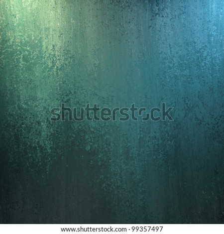 blue and green abstract background with lighting and sponge texture and copy space for ad or brochure text - stock photo