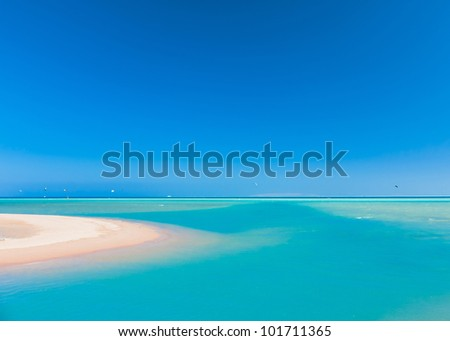 Blue and green Sea