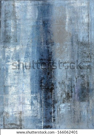 Blue and Grey Abstract Art