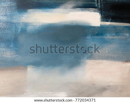 Blue and Grey Abstract Art Painting background.
