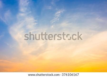 blue and orange sky #376106167