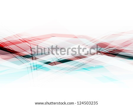 Blue and pink abstract business horizontal background with moving lines. Raster version of the vector image