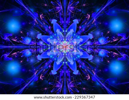 Blue And Pink Abstract High Resolution Wallpaper With A Detailed Modern Exotic Vivid Shining Flower