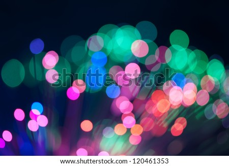 Blue and pink festive lights and circles background. Blurred christmas lights - stock photo