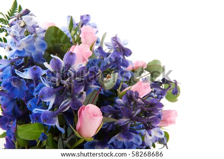 pink flower bouquet with