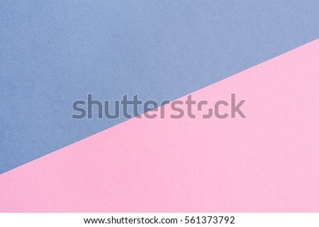 blue and pink pastel background with copy space. Texture of fashion, minimal concept, Flat lay, Top view.