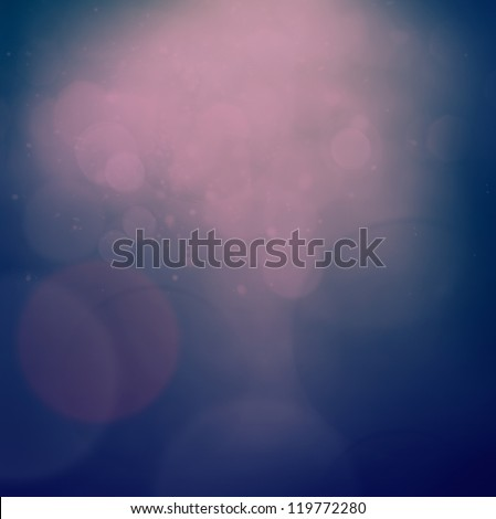 Blue and purple Christmas abstract background with bokeh lights