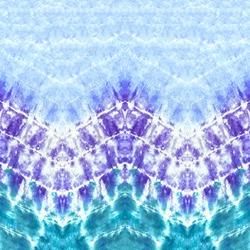 Blue and Purple Zig-Zag Tie-Dye