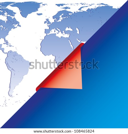 Blue and red business background