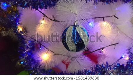 Blue and silver ball decorations for christmas decorations