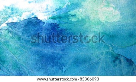 Blue and Turquoise Watercolor Background 3
