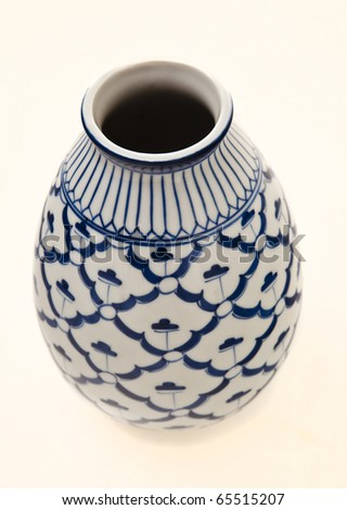A5596 Korean stoneware vase, baluster shape, underglaze blue with