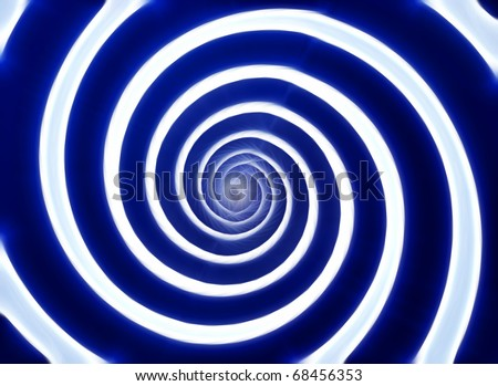 Blue and white hypnotic whirlpool shape