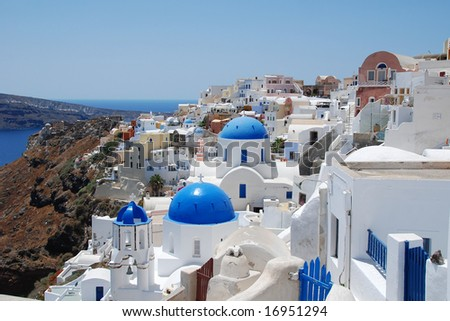 blue and white, Santorini