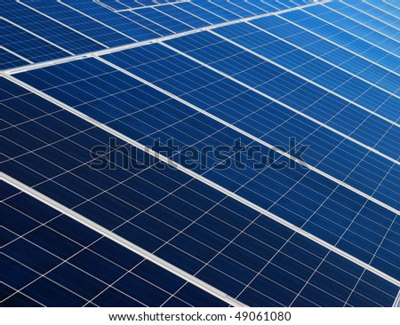 Blue and white solar panels texture