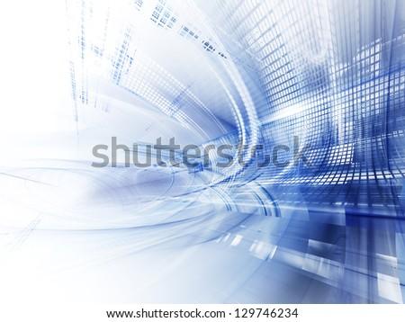 Blue and white techno design