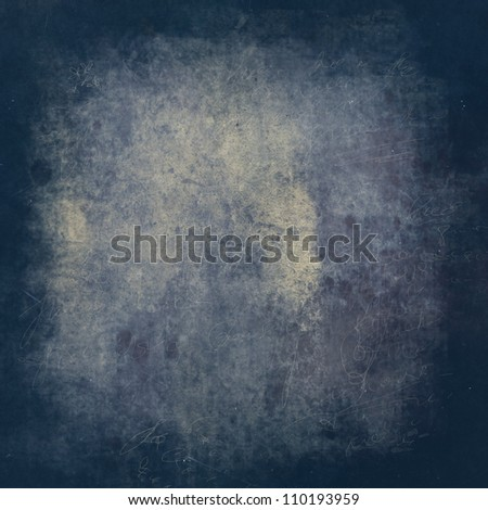 Blue and yellow grunge textured stone background with space for text or image