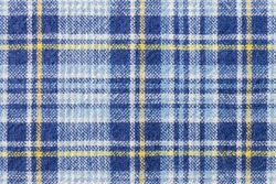 Blue and yellow tartan or plaid background for fashion design. Tartan or plaid pattern. Tartan or plaid background, Tartan or plaid fabric texture