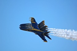 Blue Angels Jets in Close Formation