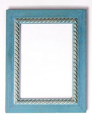 blue antique frame